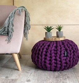 Big Cotton Pouf - violet