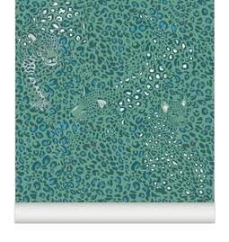 Wallpaper Cheetah - mint