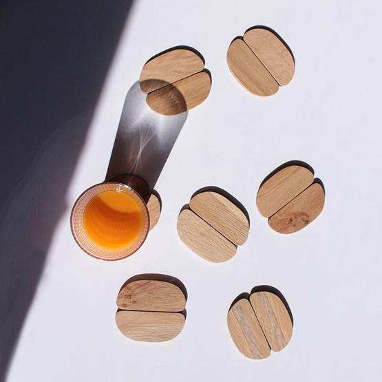 Accessoires de table - Set dessous de verre & dessous de bouteille Giverny - Design : Ammó