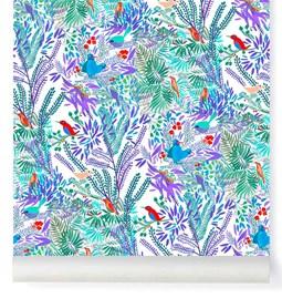 Papier-peint Jazz - Aqua