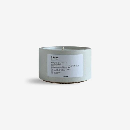 Concrete scented candle - Cotton - Design : AKARA.