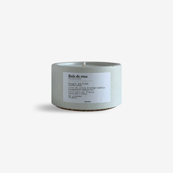 Scented concrete candle - Rosewood - Design : AKARA.