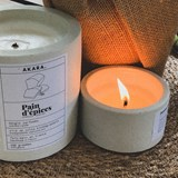 Scented concrete candle - Gingerbread 5