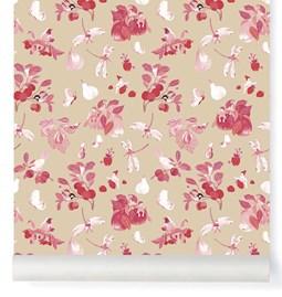 Wallpaper Garden Party - Framboise