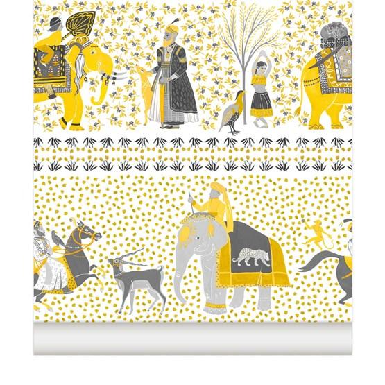 Wallpaper Chalana - topaz - Copy - Design : Little Cabari