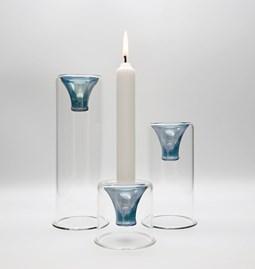 Tharros candle holders set - blue