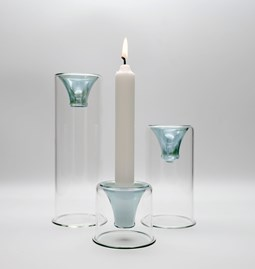 Tharros candle holders set - green
