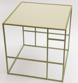Table M+ - Olive/Gris soyeux