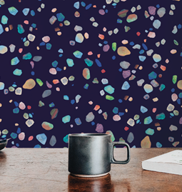 Wallpaper AGATHE - Blue