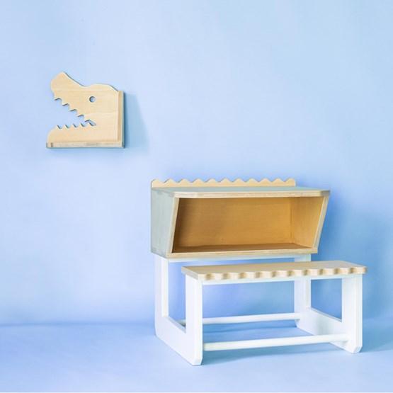 """TIK-TOK"" the croco kid's desk - wood - Design : Studio Ruthy Design"