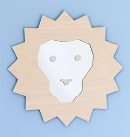 SIMBA Lion Mirror - wood