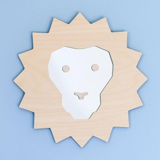 "Miroir Lion ""SIMBA"" - Bois - Design : Studio Ruthy Design"