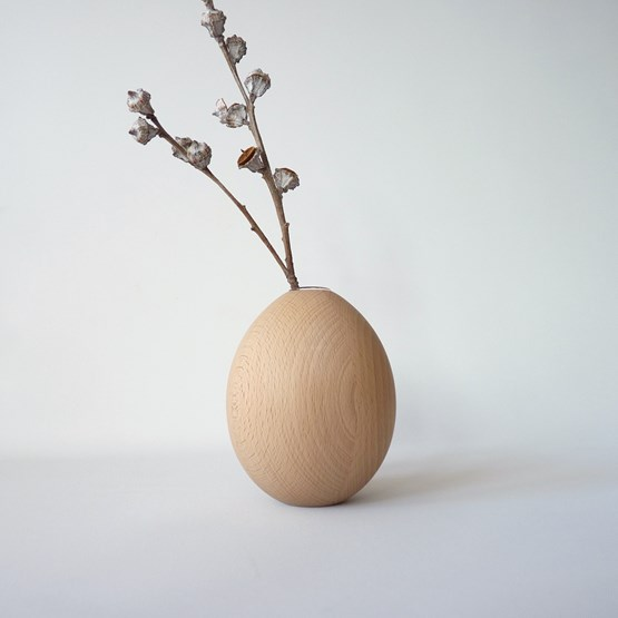 Vase LES COQUETTES - beech wood - Design : Beatrix Li-Chin Loos