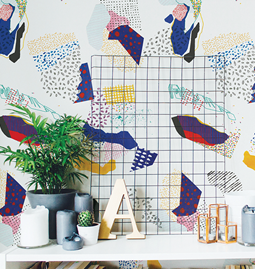 Wallpaper MATHIS - Multicolor
