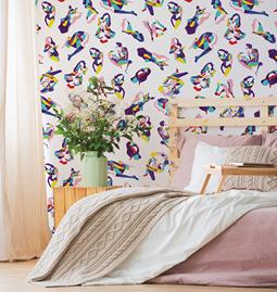 Wallpaper NINA - Multicolor