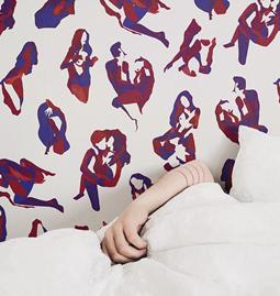 Wallpaper NINA - Red