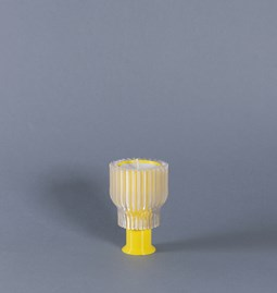 Double candle holder 2.21.2 - yellow
