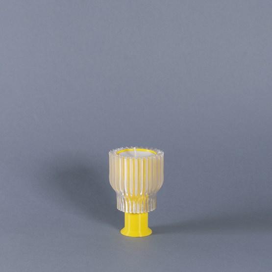 Double bougeoir 2.21.2 - jaune  - Design : Warren & Laetitia