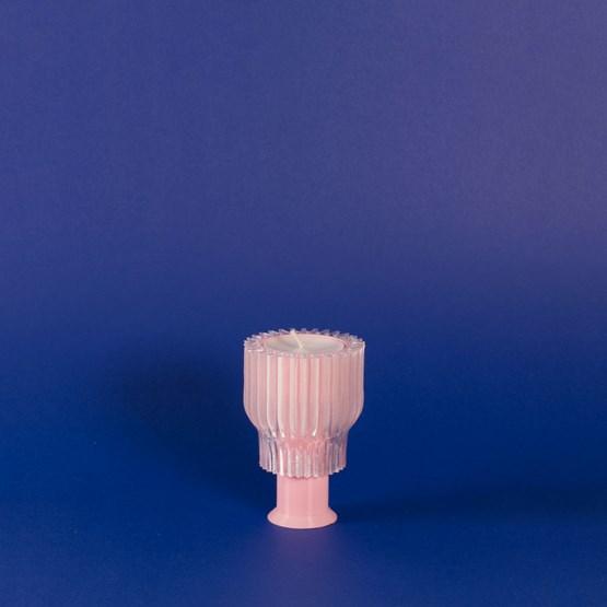 Double bougeoir 2.21.2 - rose  - Design : Warren & Laetitia