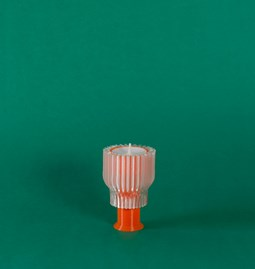 Double candle holder 2.21.2 - orange