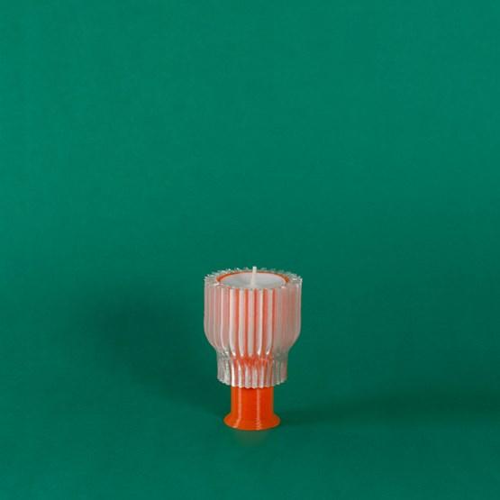 Double bougeoir 2.21.2 - orange  - Design : Warren & Laetitia