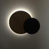 Décoration murale lumineuse Eclipse - Noir et chêne 4