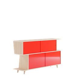 Sideboard S*2 - Ash / Red