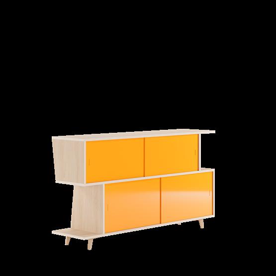Sideboard S*2 - Ash / Yellow - Design : FEIT Design