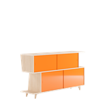 Sideboard S*2 - Ash / Orange 6