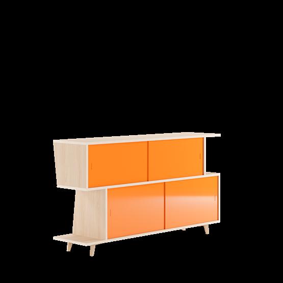 Sideboard S*2 - Ash / Orange - Design : FEIT Design