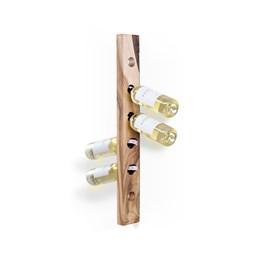 MODEL A wine rack - one piece walnut wood