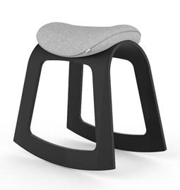 Muista Chair - Black Frame, Grey Seat