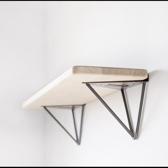 Support d'étagère mural LE FABULEUX -  acier brut  - Design : Ripaton
