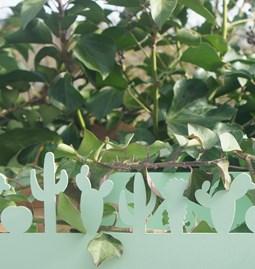 Cactus wall shelf - soft green