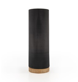 Vase Show - noir/chêne