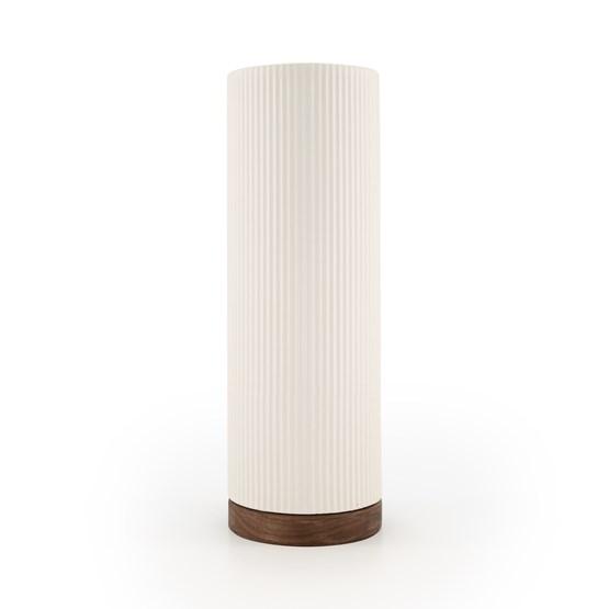 Vase Show - blanc/noyer - Design : Julien van Hassel