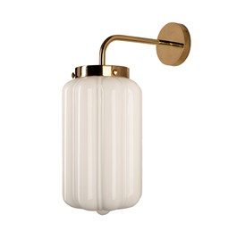 Wall Lamp White Deco - Glass
