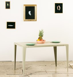 Table CHAMFER -  Gris Soie