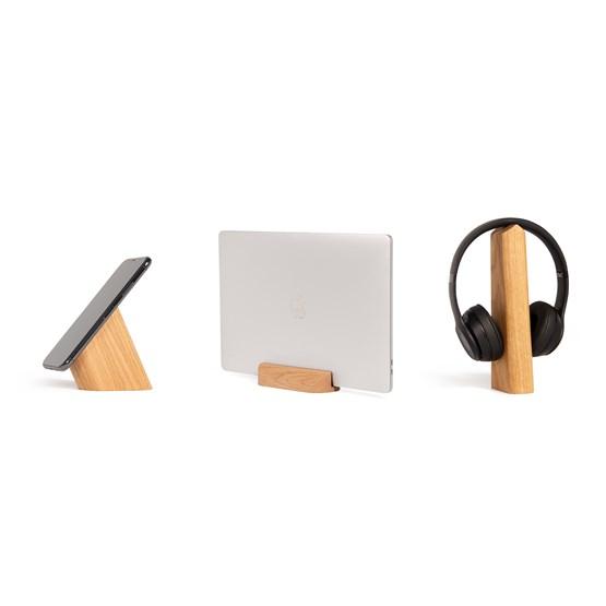 Risco, Loma and Mallo Desk Accessories Combo - Oak - Design : WOODENDOT