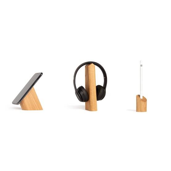 Risco, Mallo and Sima Desk Accessories Combo  - oak - Design : WOODENDOT