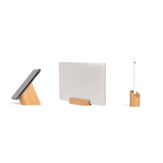 Risco, Loma and Sima Desk Accessories Combo - Oak - Design : WOODENDOT