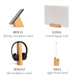 Risco, Loma, Mallo and Sima Desk Accessories Combo - Oak