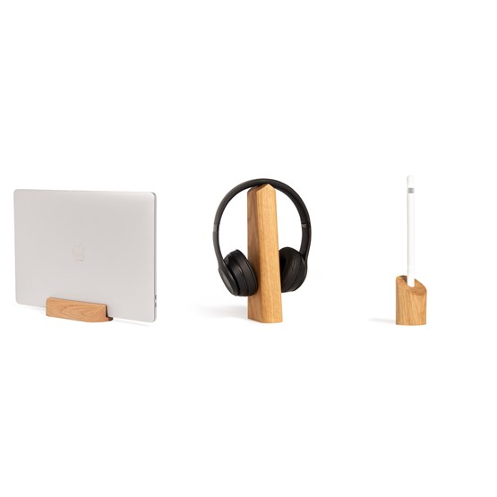 Loma, Mallo and Sima Desk Accessories Combo - oak - Design : WOODENDOT