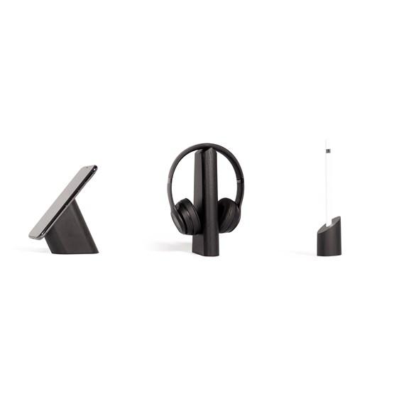 Risco, Mallo and Sima Desk Accessories Combo - Black - Design : WOODENDOT