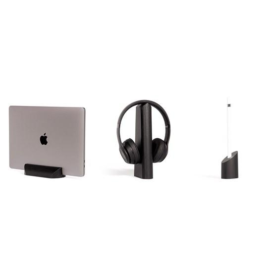 Loma, Mallo and Sima Desk Accessories Combo - Black - Design : WOODENDOT