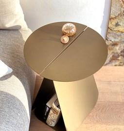Table YOUMY symétrique ronde - bronze anodique