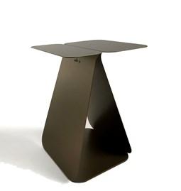 Table YOUMY rectangulaire asymétrique - bronze anodique