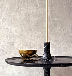 Spinning top shelf TOUPY - nero marquina black marble