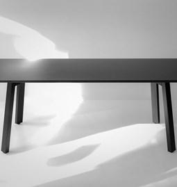 Table FLAT | pin laqué noir