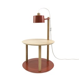 Petite table ronde & lampe by charlotte - Terracotta